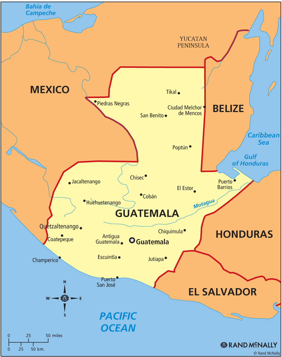 Guatemala Political ThingLink - Political map of guatemala