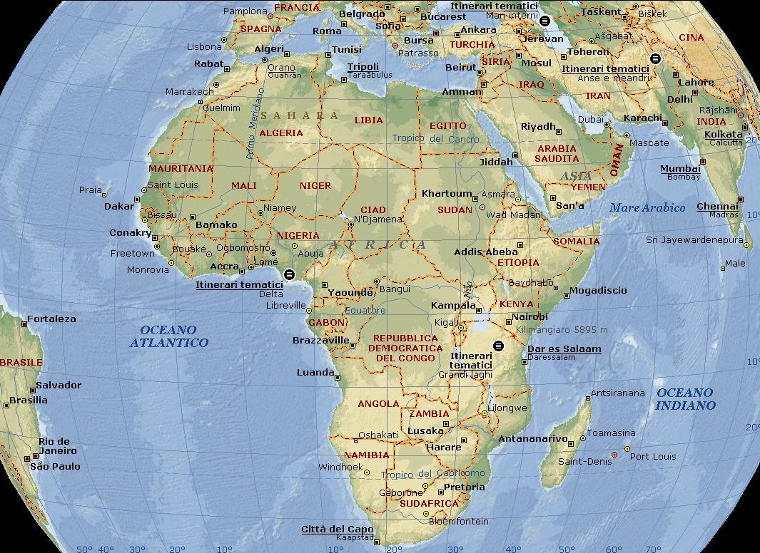 Cartina Fisica Dell Africa Mediterranea.Africa Settentrionale Nella Parte Settentrionale Del Con