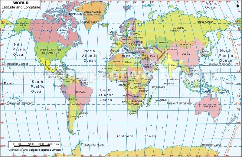 Latitude and Longitude Country and World Mapping