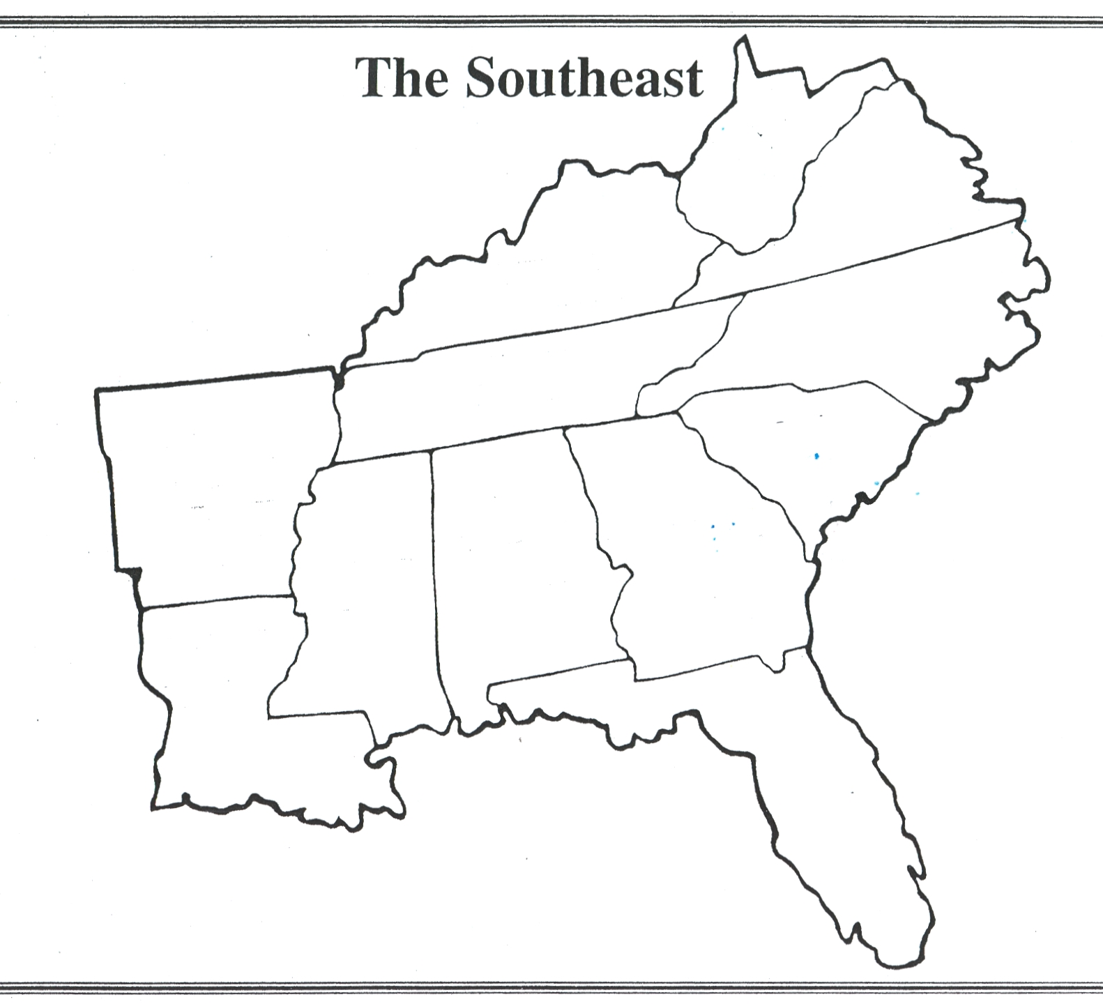 The Southeast ThingLink - Map of southeast us
