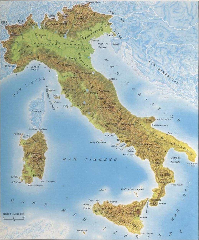 Cartina Fisica Italia Colline.Il Gofo Di Napoli Sullo Sfondo Si Vede Il Vesuvio Probabi