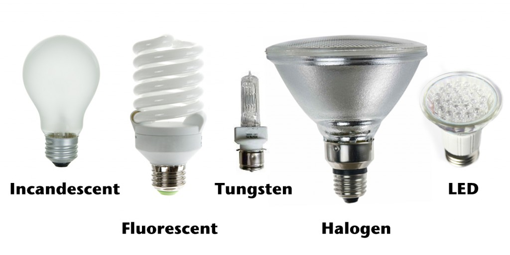 Different Types of Lighbulbs - ThingLink