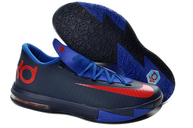 a3d254c93591 Nike Zoom KD 6 Navy Royal Blue Red Kevin Durant Shoes