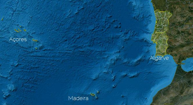 Mapa De Acores E Madeira