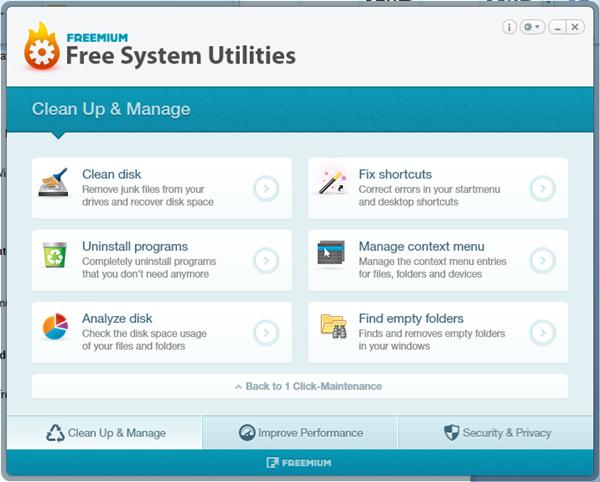 Free System Utilities - Imagem 3 do software