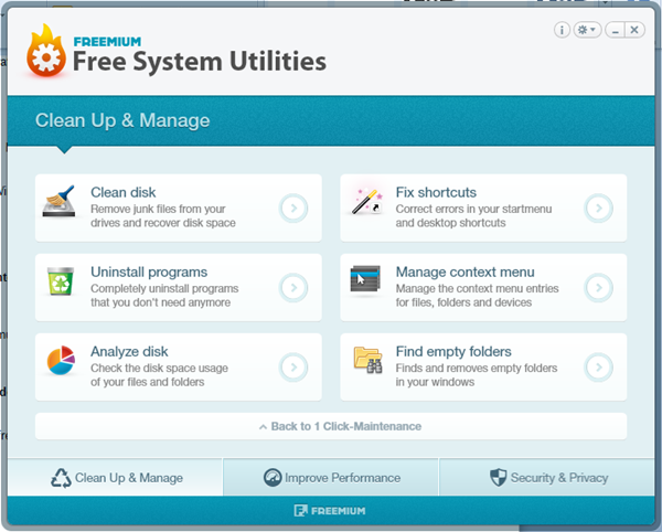 Free System Utilities.