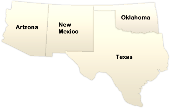 The Southwest ThingLink - Blank map of southwest us and mexico