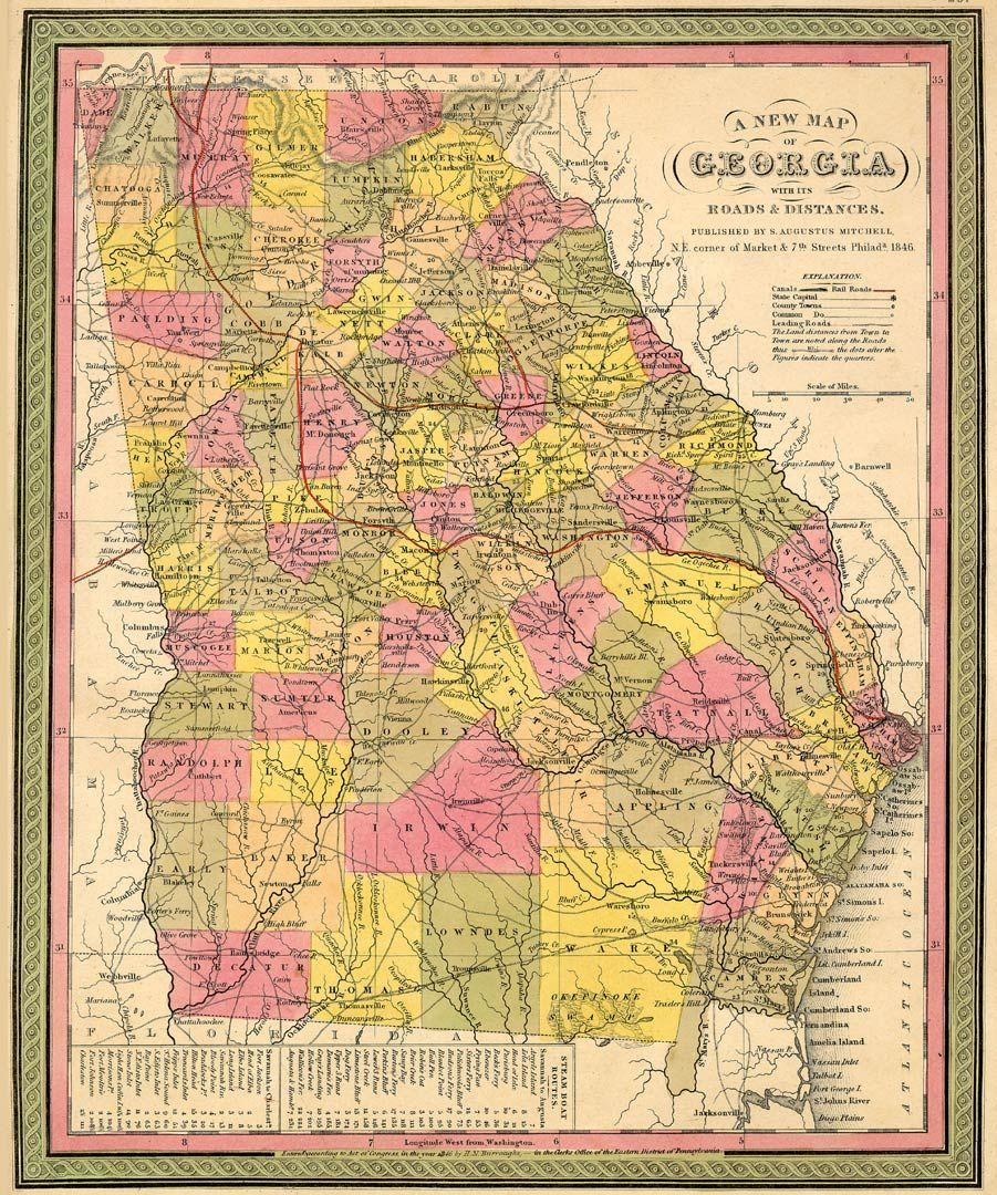GEORGIA MAP ThingLink - County map of georgia