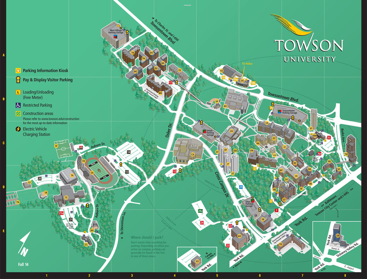 Towson University Map Cyndiimenna