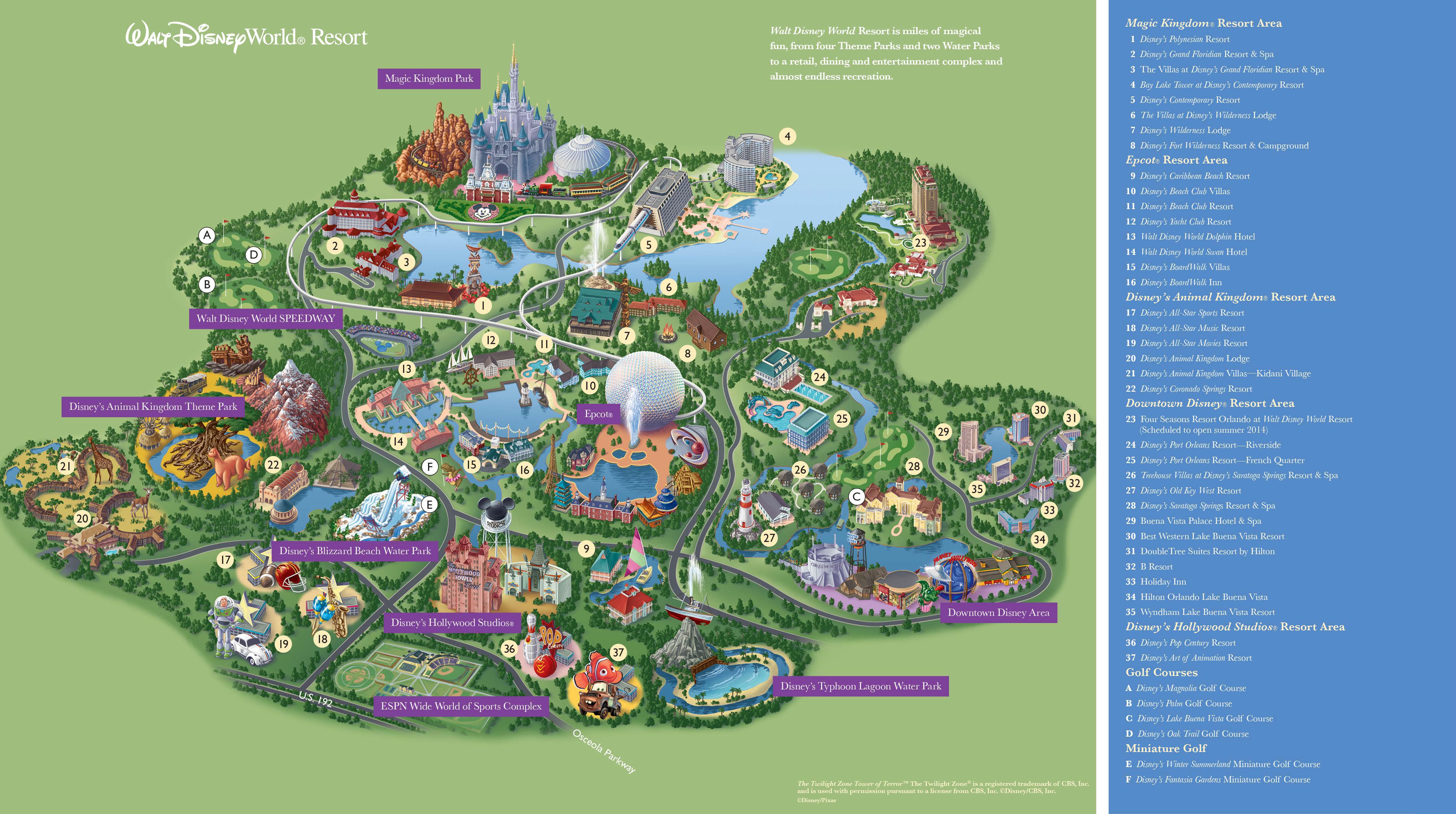 Disney Movie World Map.Disney World Map