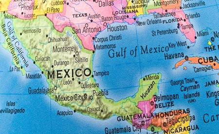 Map Of Belize ThingLink - Map of southern us and mexico