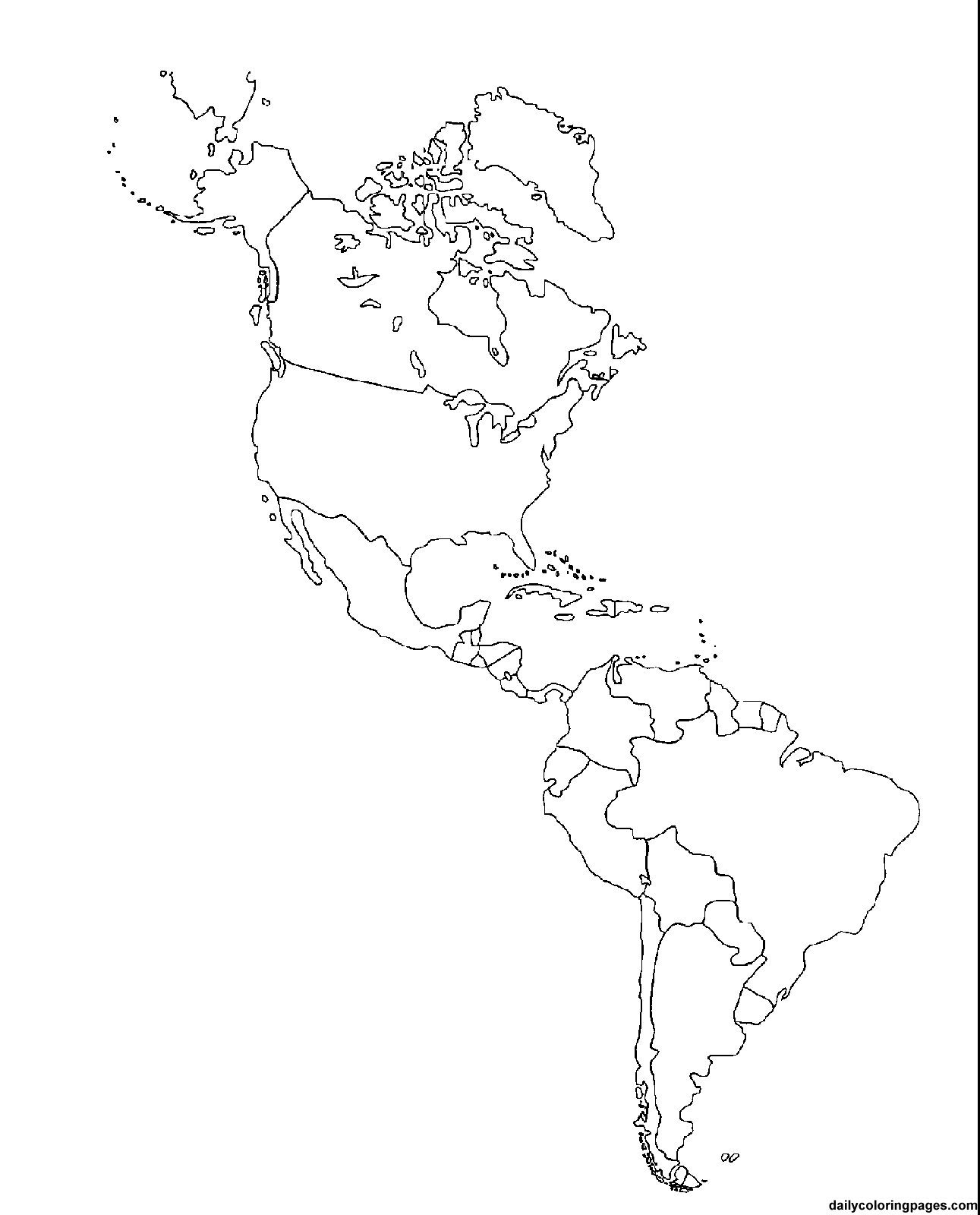 Outline Maps For Continents Countries Islands States And More ...
