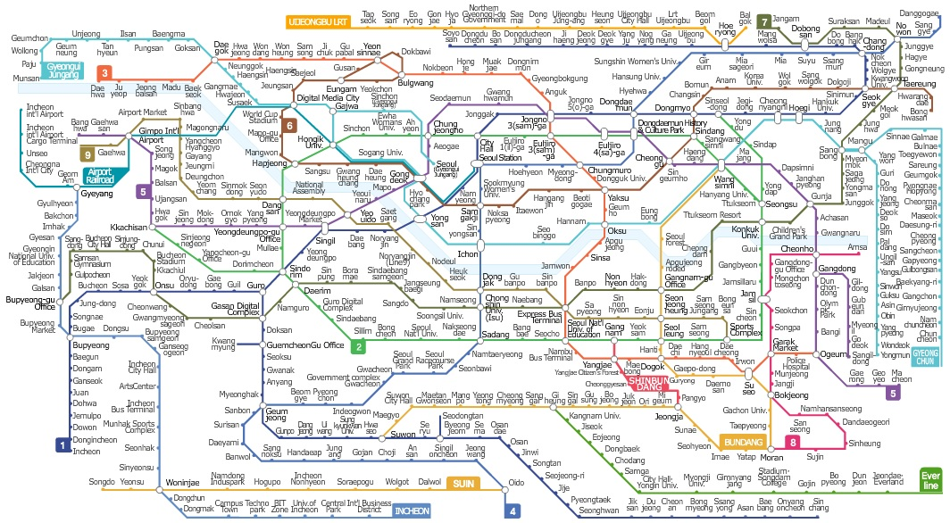 Eoul Subway Map.Seoul Subway Map Week1