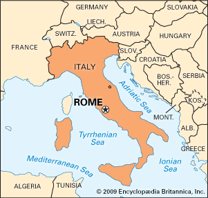 Rome Italy Map Greece Map