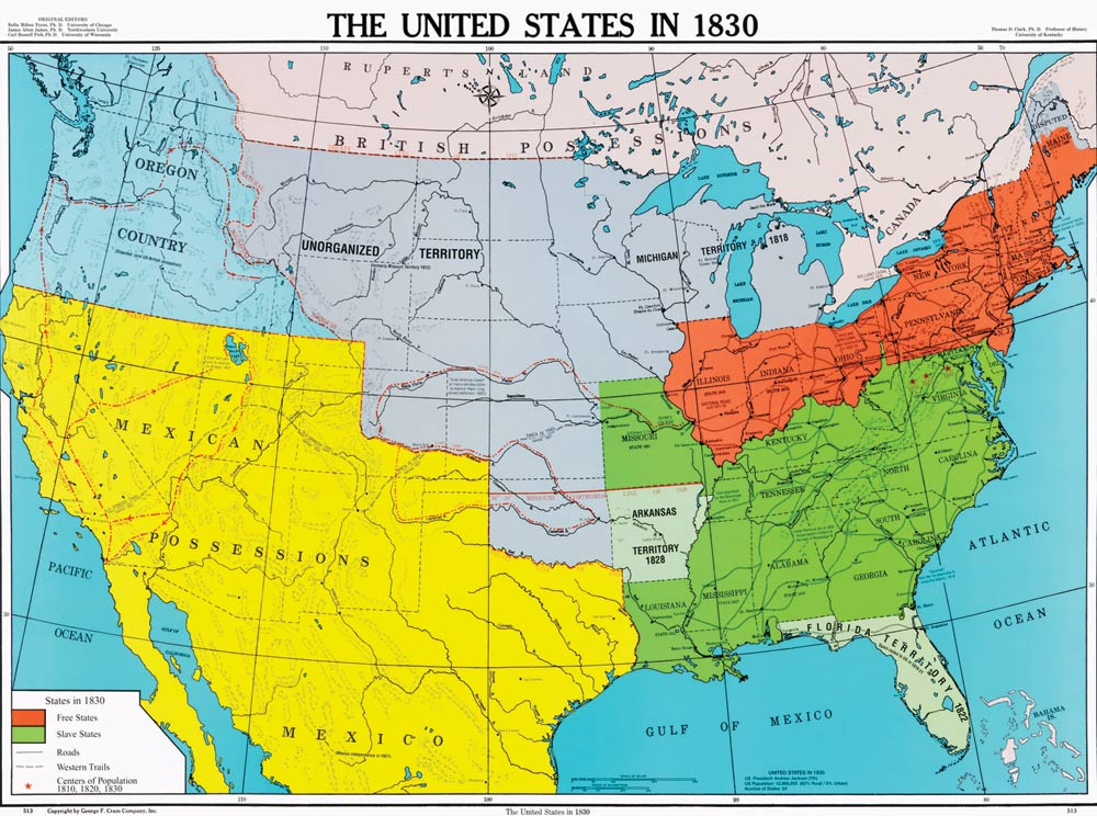 Westward Expansion Map ThingLink - Map of the us in 1800
