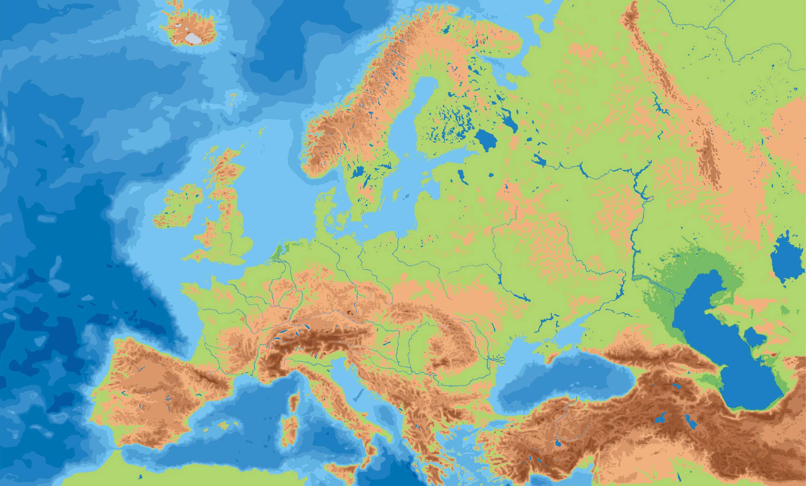 Sistema Montaoso Llanuras y Peninsula de Europa  ThingLink