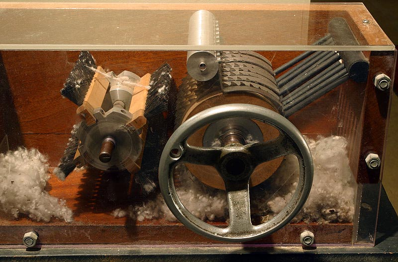 1794 eli whitney built the cotton gin engine a picture