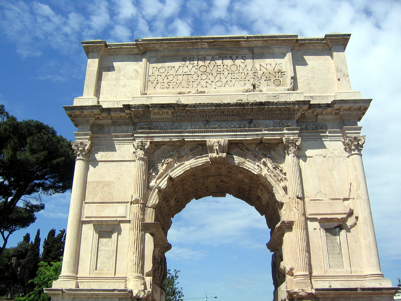 Image result for Arch of Titus in Rome, Italy