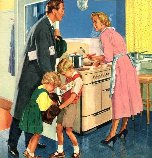 Image result for 1950s family