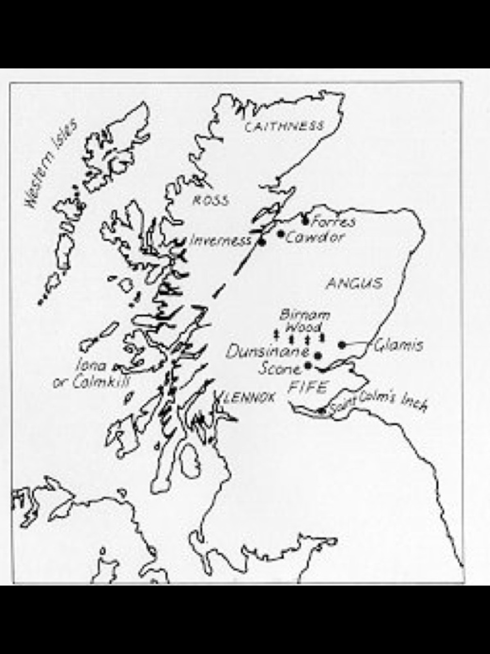 Remix Of Macbeth Map Of Scotland Casey Wright