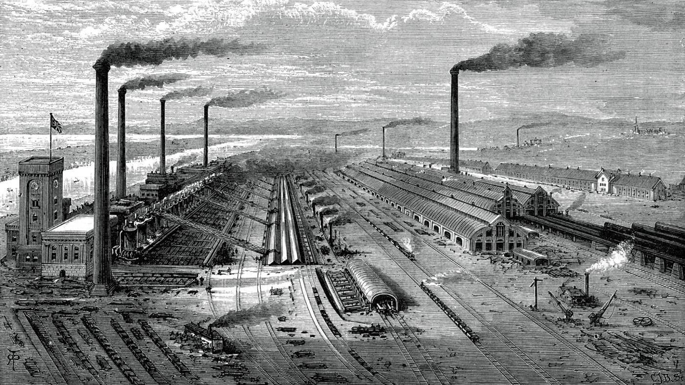 the major contributors during the industrial revolution