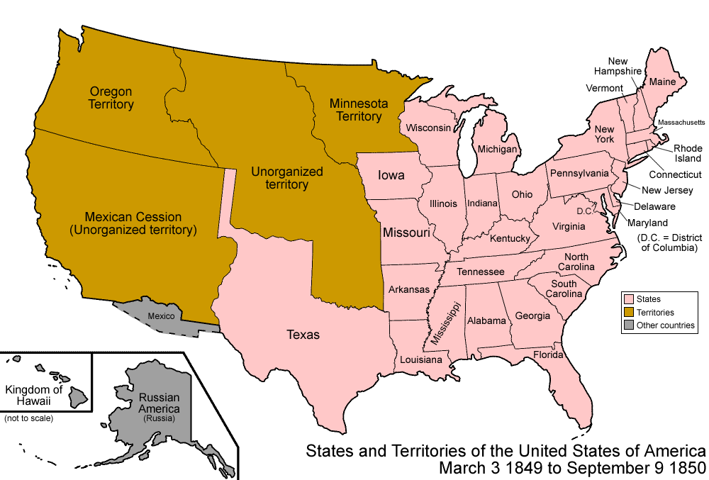 Map Of US ThingLink - Map of slavery in the us