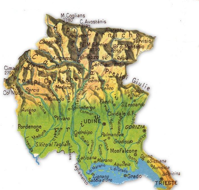Cartina Geografica Carnia.Trieste E Il Capoluogo Del Friuli Venezia Giulia