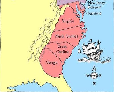 Where were the southern colonies located. Southern ...