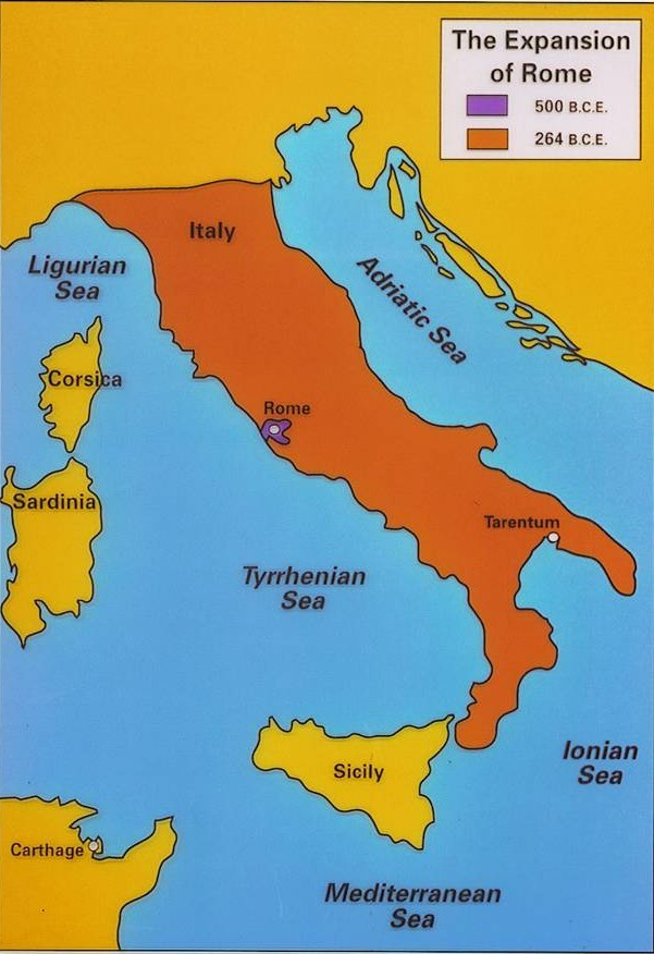 Ancient Rome Geography Map ThingLink - Geography of rome