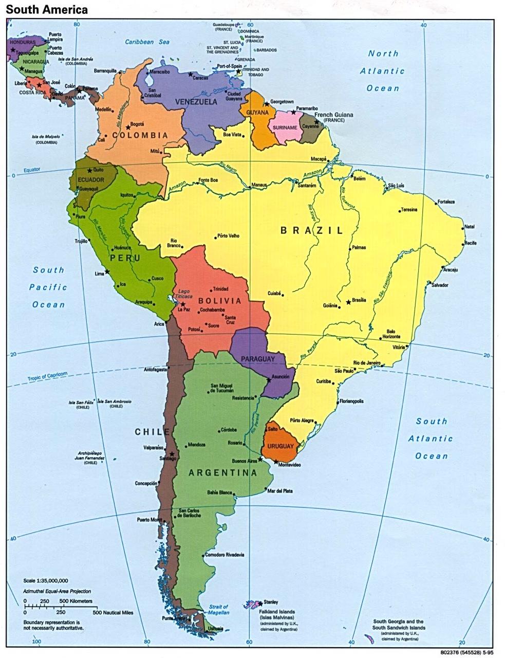 Sur America Mapa Interactivo