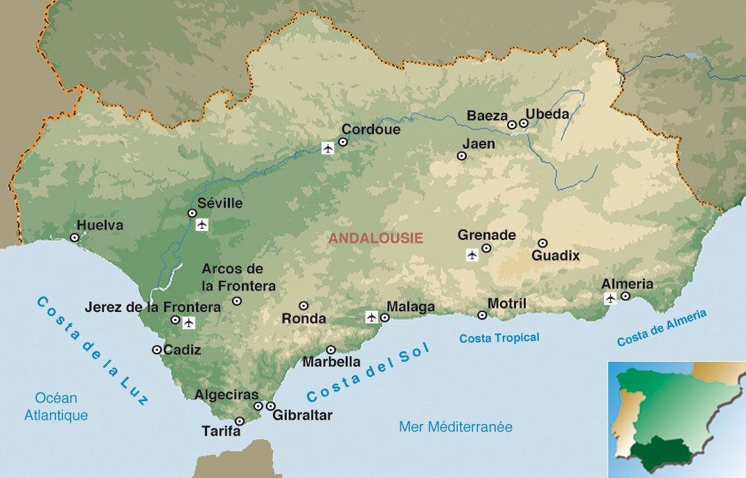 Carte Andalousie Interactive.Plonger Au Cœur De L Andalousie