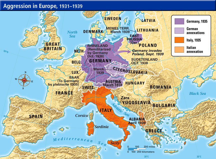 Italy Germany Japan Aggression ThingLink - Germany japan map