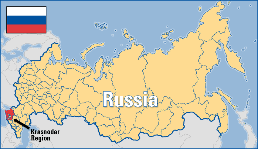 Russia Is The Largest Country In The World With Of Ru - Russia on a map