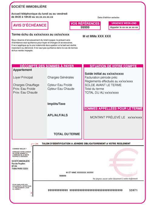 Modele quittance loyer colocation document online - Modele de quittance de loyer pour meuble ...