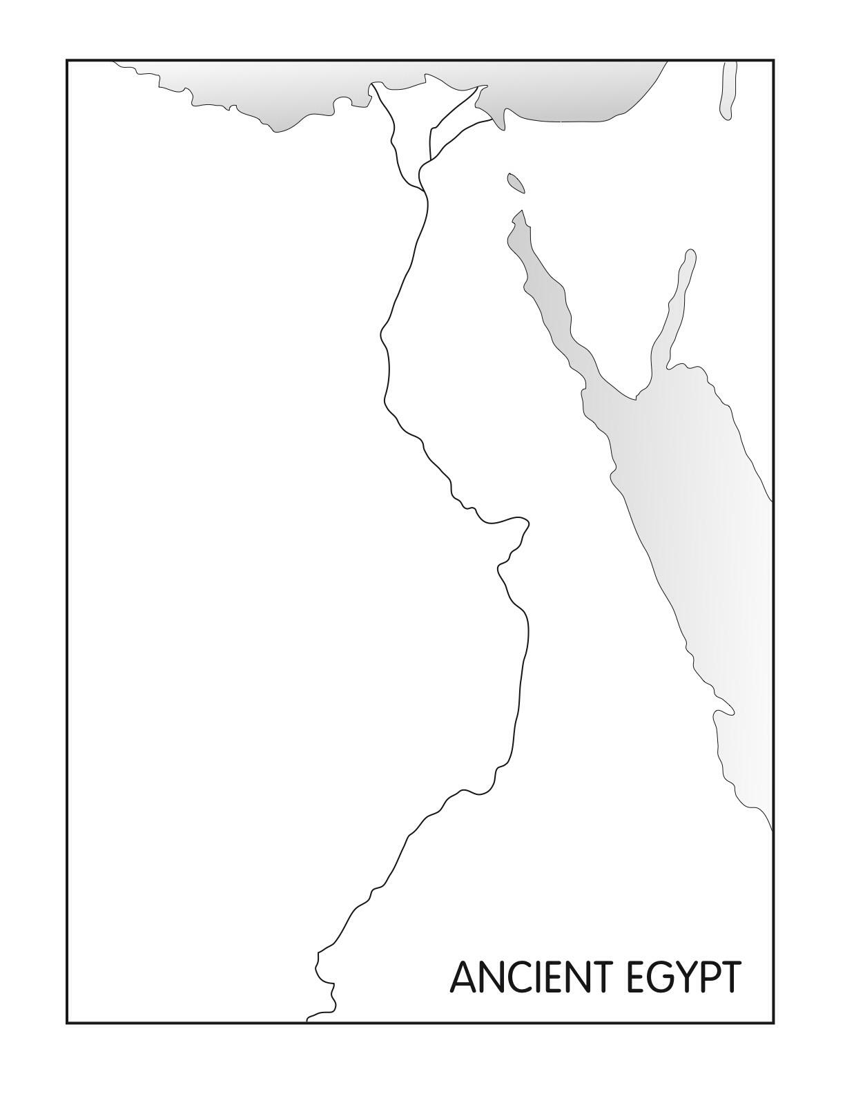 Nile River Nubian Desert Mediterranean Sea Libyan Dese