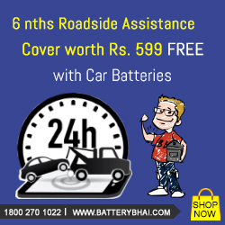 BUY ANY CAR BATTERY & GET 6 MONTHS ROADSIDE ASSISTANCE COVER