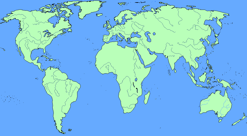 Rivers Of The World ThingLink - Blank world map with major rivers