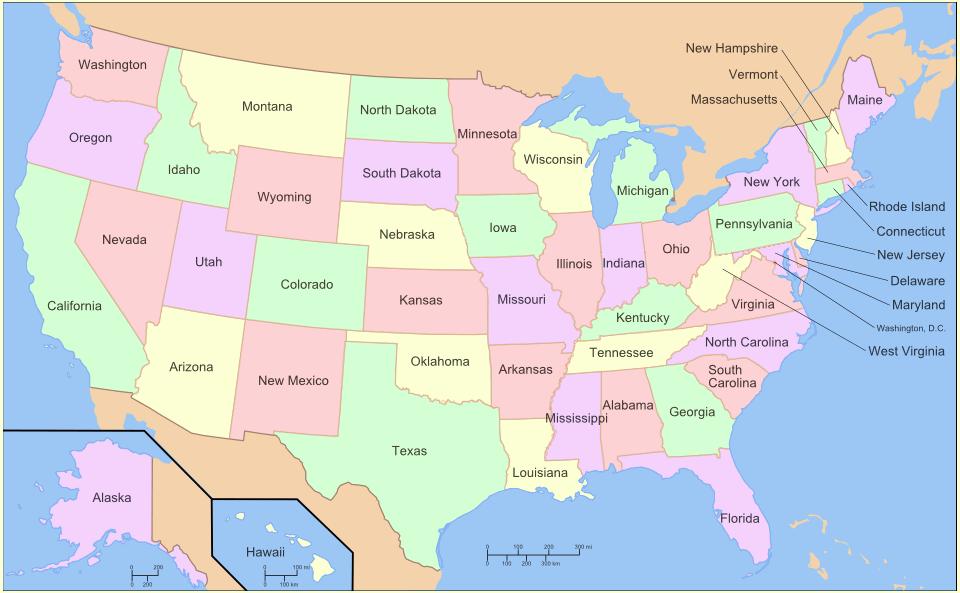Texas Dallas Million Georgia Atlanta Million Ca - Usa width coast to coast