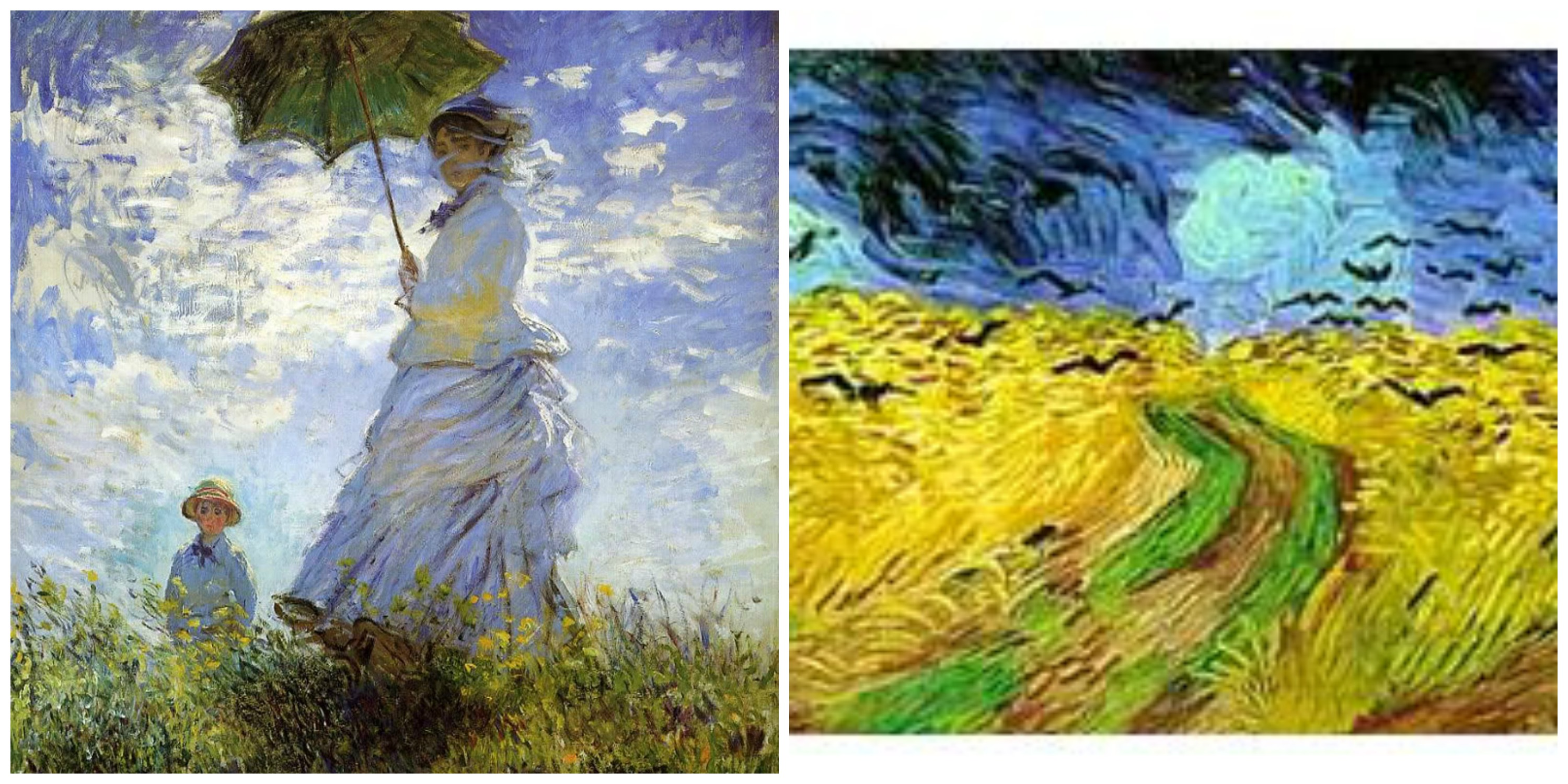 compare and contrast van gogh and monet The principal impressionists were claude monet, pierre exhibition to compare and contrast major artists of painters from bazille to van gogh.