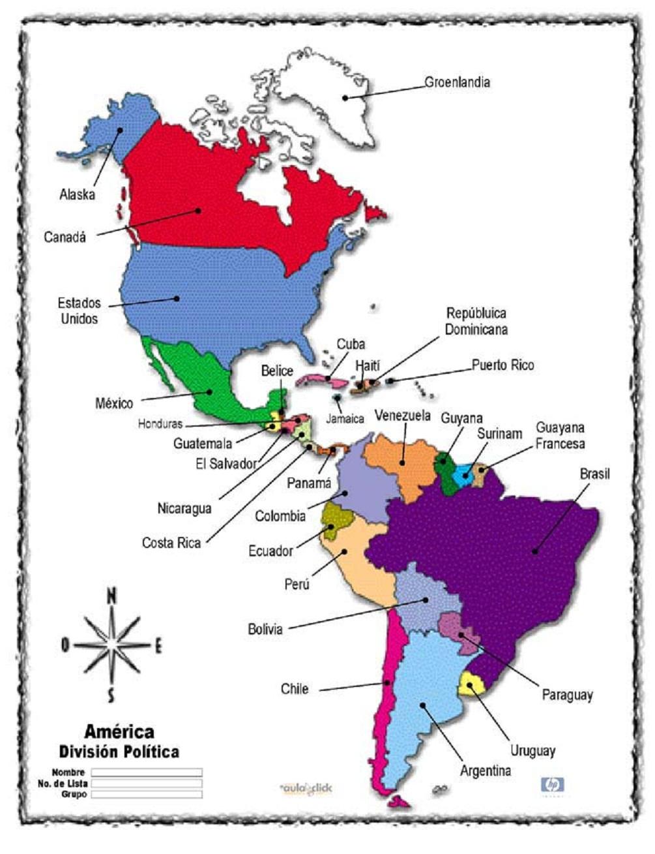 Continente Americano  ThingLink