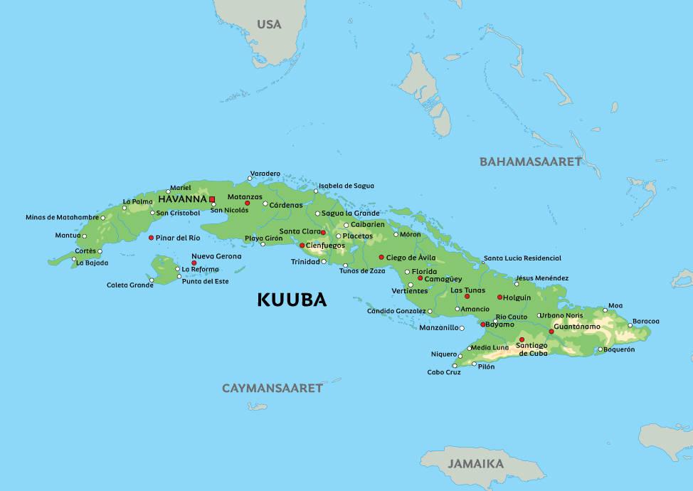 Kuuban Tasavalta Eli Kuuba On Karibianmerella Sijaitseva
