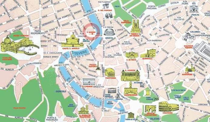 Cartina Roma Vaticano.Roma Mappa Interattiva