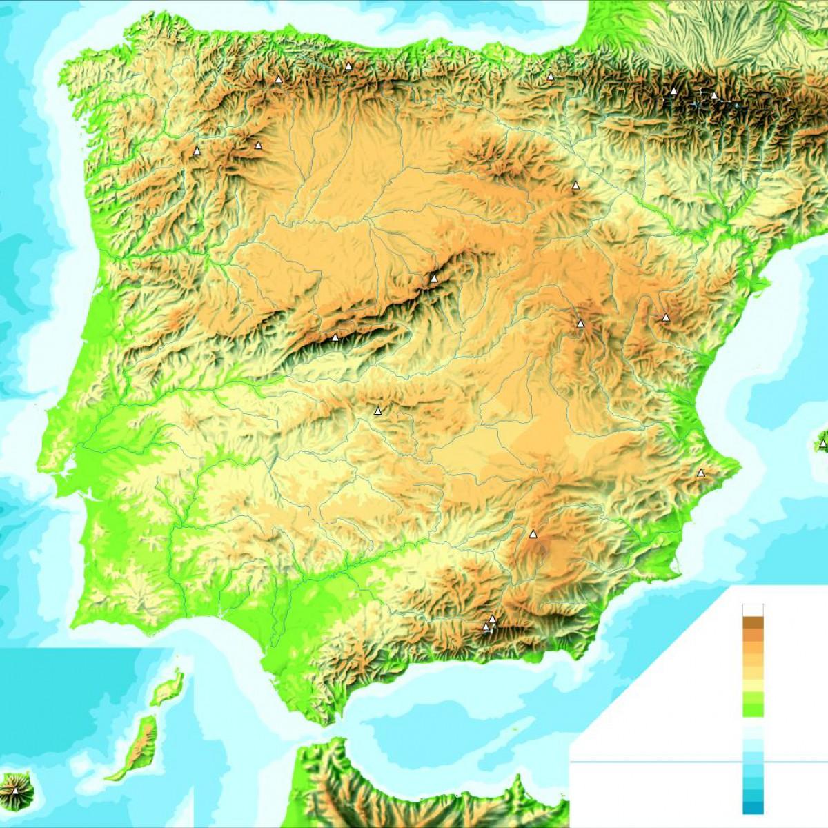 MAPA DE LOS PRINCIPALES RÍOS DE ESPAÑA