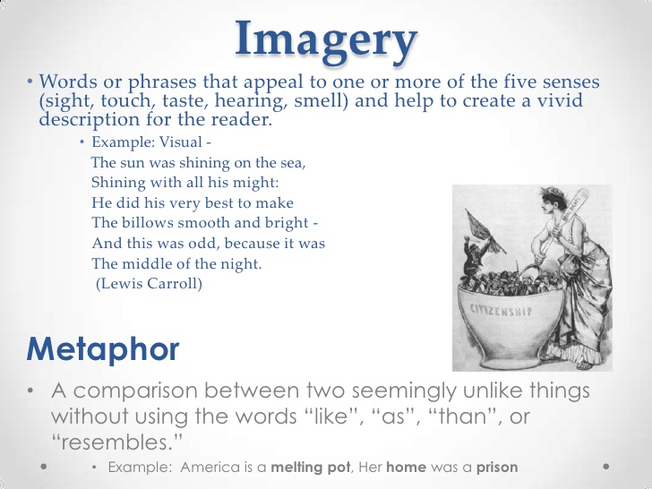 imagery examples in literature