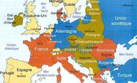 Carte De Ieurope.La Carte De L Europe A La Fin De La Guerre De 1914 1918