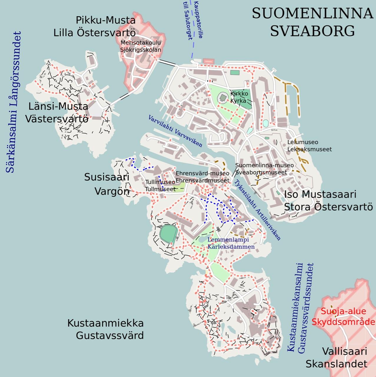 Suomenlinna Kartta