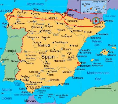 Spagna Galizia Cartina.La Spagna Di Andrea Morotti E Cristian Franca
