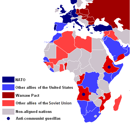 Africa Cold War Map ThingLink - Cold war us map