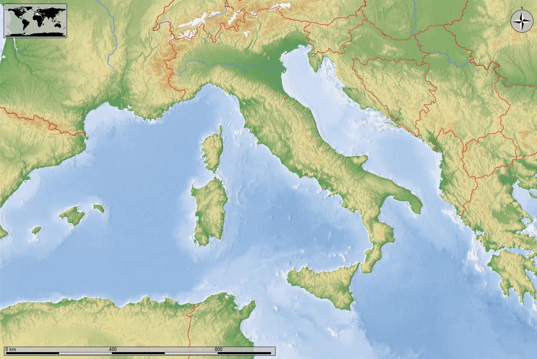 Cartina Italia Pianure.Le Pianure Italiane