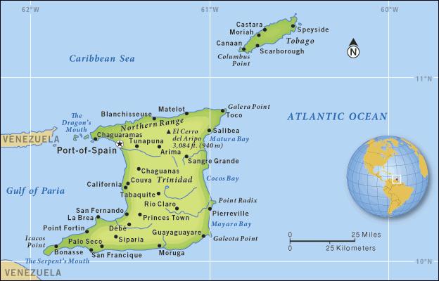 Trinidad And Tobago Map By Morgan Harriott Thinglink: Trinidad And Tobago Map At Slyspyder.com